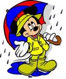 Mickey in the Rain