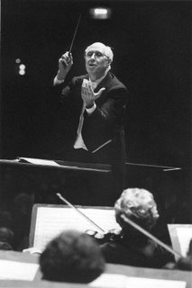 Mstislav Rostropovich 'conducting'