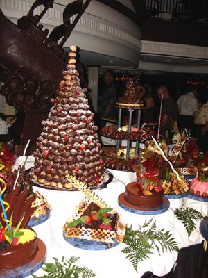 Midnight buffet - the chocolate table.