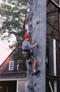 Benjamin climbs