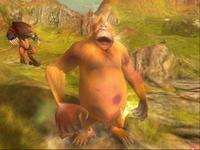 Good, slightly tubby ape walks away from a battle