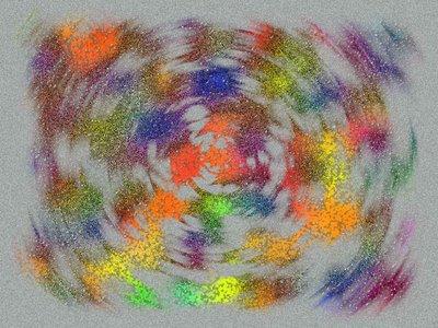 Paint explosion.