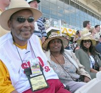 photo of Dwight Daughton, his wife, and C Maria Stokes on Preakness Day 2006