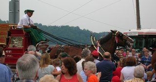 Budweiser Clydesdales visit Mountaineer Racetrack on July 9, 2006