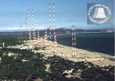 Les antenes de Ràdio Liberty a la Platja de Pals