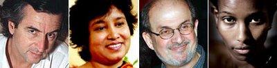 BHL, Nasreen, Rushdie, Hirsi
