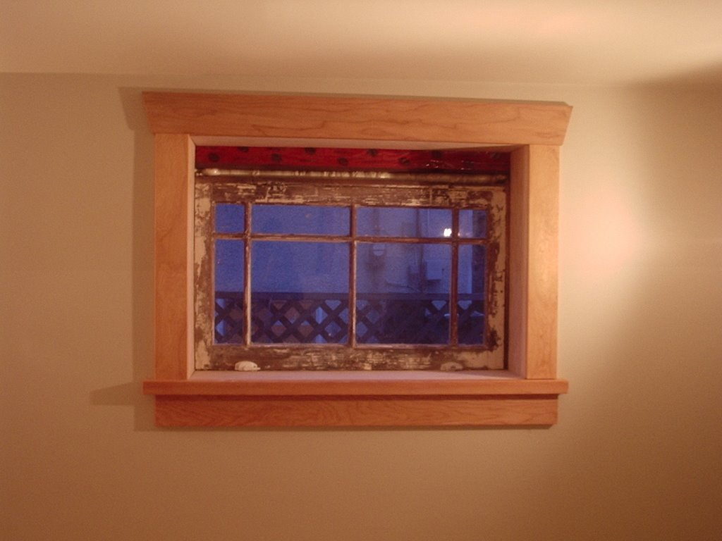 Bungalowpics basement window trim for Basement windows
