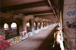 Same aqueduct, converted into a subway tunnel
