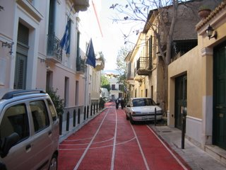 Also in Plaka - I think they painted the streets for the Olympics!