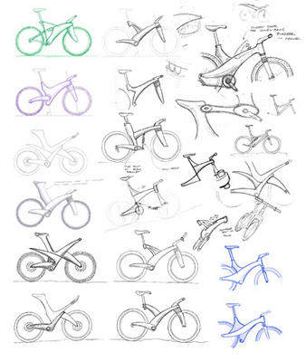 concept sketches for bicycle design