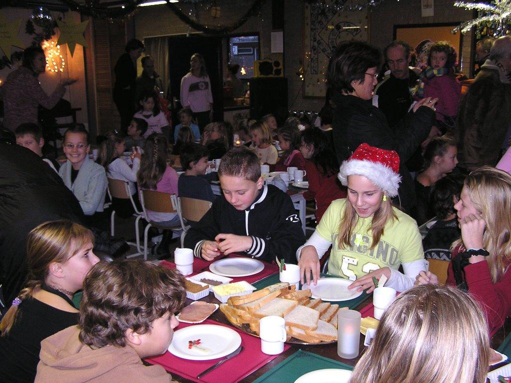 kerstmis diner op school
