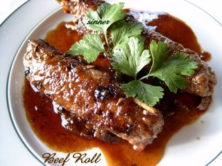 beef roll with grand marnier sauce