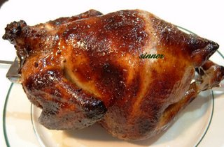 chinese crispy skin roast chicken