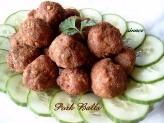 fried pork balls