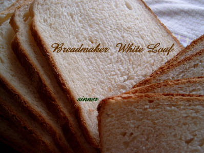 breadmaker soft white loaf