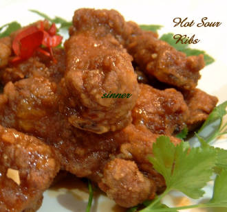 hot n sour pork spareribs