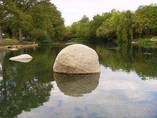 San Marcos River rock