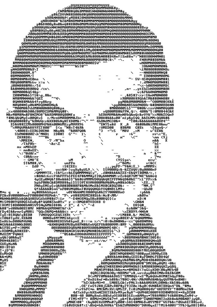 One Line Ascii Art Confused : Text art what if this is you see through your eyes