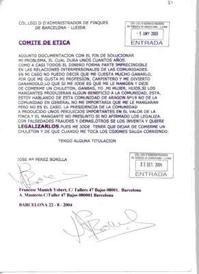 Comite de etica burofax aragon19barcelona - Colegio administradores barcelona ...