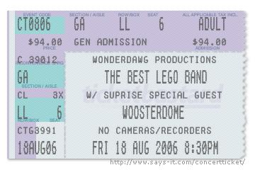 Wonderdawg the concert ticket generator for Concert ticket generator