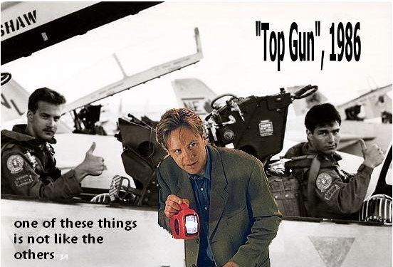 """Tim Robbins is not in """"Top Gun"""""""