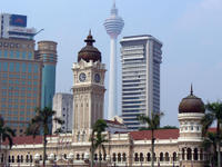 KL Merdeka Square view of KL's 'Big Ben' Clock!