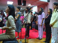 Some of the praise worship team members