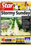 Source: The Star  Stormy Sunday - Sunday is a day for sleeping in but not yesterday. Instead, the rest day turned out to be one of anxiety for thousands of residents in Shah Alam who were rudely awakened at dawn by floodwaters gushing into their homes.