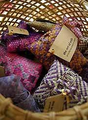 Bujam are small pouches crafted by the Mah Meri ladies which were traditionally used to store tobacco and sweets.
