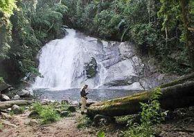 The beautiful Lata Berumbum waterfalls.