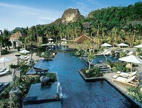 The resort is a village of pavilions, pools and landscaped gardens.