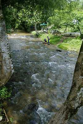 SCENIC VIEW: Sungai Angkat near the village is a popular picnic spot.