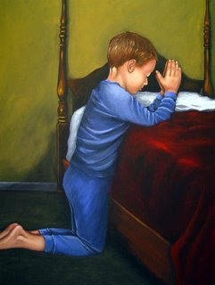 Christian Art Child Prayer by Rita Ford