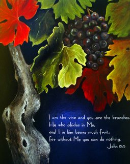 Grape vine Christian Art by Rita Ford