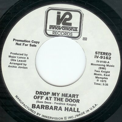 Barbara Hall Drop My Heart Off At The Door You Brought It On Yourself