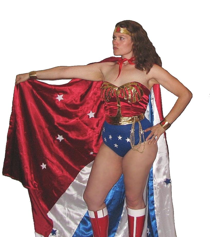 Jess as Wonder Woman Halloween 2005
