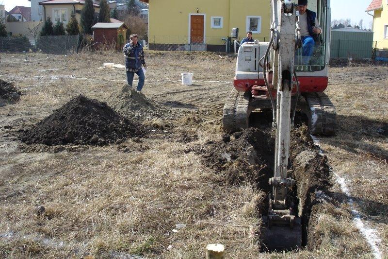 Unser hausbau 2006 2007 das erste gro e problem for Boden verdichten