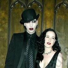 Marilyn Manson e Dita Von Teese