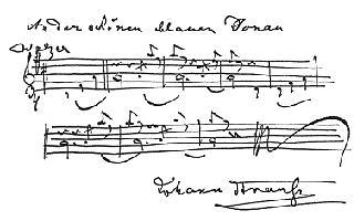 Danubio Blu con autografo di Strauss