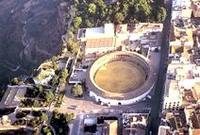 Vista aérea de la plaza de toros de la Real Maestranza de Caballería de Ronda