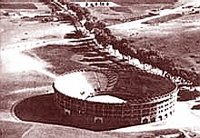 Plaza de toros de Tánger hacia 1950