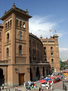 Vista de la Monumental de Las Ventas en día de festejo