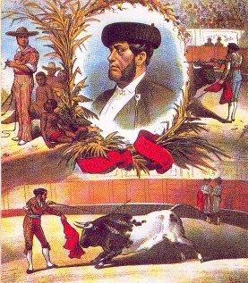 'Desperdicios', maestro y padrino de 'Bocanegra', en una lámina de 'La Lidia'