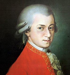 Retrato póstumo de Wolfgang Amadeus Mozart por Barbara Krafft (1819)