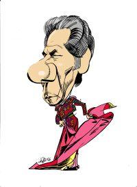 Caricatura de Rafael de Paula, por Idígoras, publicada en La Voz