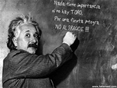Albert Einstein, un gran aficionado a los toros