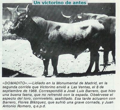 Domadito, de Victorino Martín