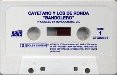 Cayetano y los de Ronda: Bandolero