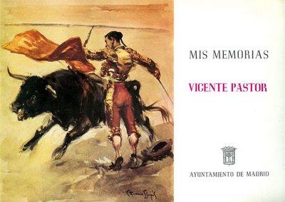 Cubierta de 'Mis Memorias', por Vicente Pastor, manuscrito publicado por el Ayuntamiento de Madrid en 1980