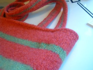 Stripey Felted Bag